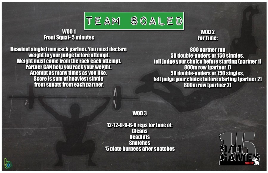 Scaled Team wod 1-3