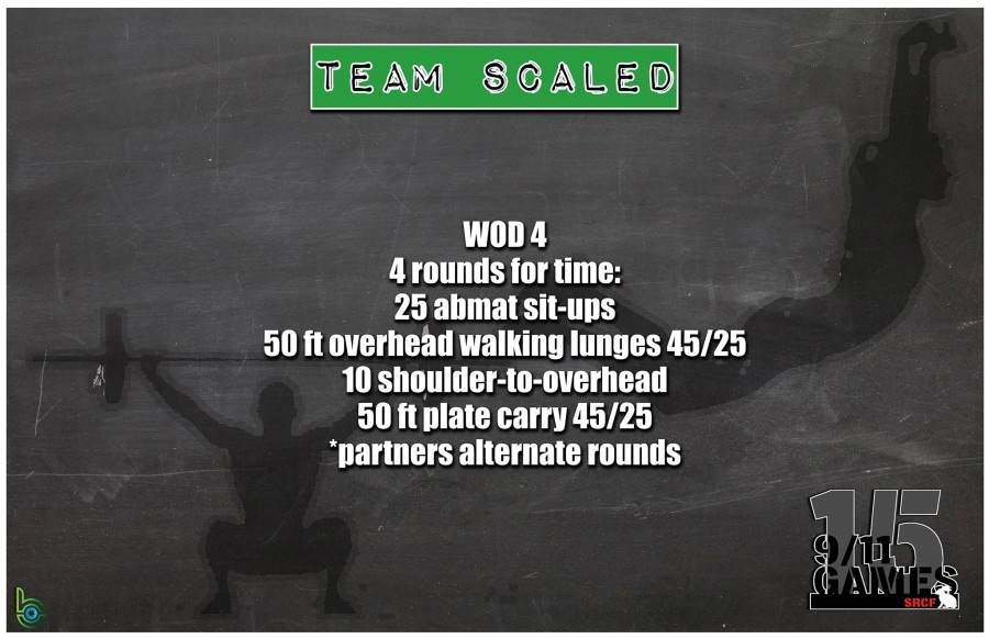 Scaled Team Wod 4