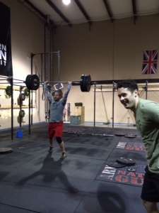 The Dream Team, Matt G and Stephen P. having fun with WOD 2