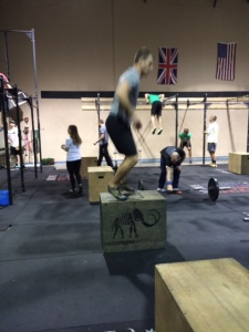 Steven B. Destroying Burpee box jumps